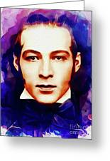 Rudolph Valentino, Vintage Movie Star Greeting Card