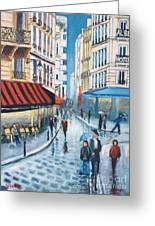 Rue De La Huchette, Paris 5e Greeting Card