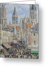 Rue De L'epicerie, Rouen Greeting Card