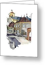 Rue Font St Jean, Ste Alvere, Dordogne Greeting Card