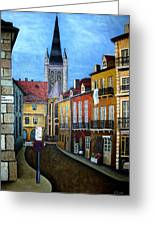 Rue Lamonnoye In Dijon France Greeting Card