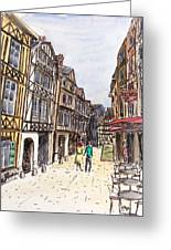 Rue Malpalu, Rouen, France I Greeting Card