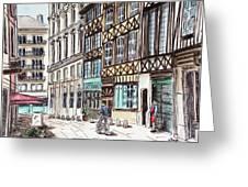 Rue Malpalu, Rouen, France II Greeting Card