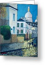 Rue Norvins, Paris Greeting Card