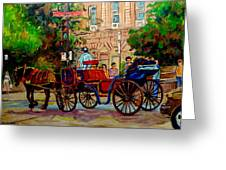 Rue Notre Dame Montreal Greeting Card