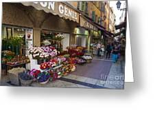 Rue Pairoliere In Nice Greeting Card