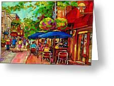 Rue Prince Arthur Montreal Greeting Card
