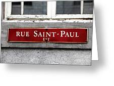 Rue Saint-paul Greeting Card