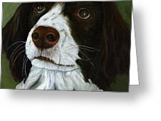 Rueger - Dog Portrait Oil Painting Greeting Card