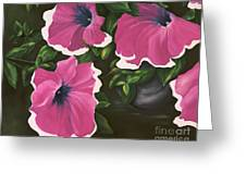 Ruffled Petunias Greeting Card