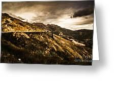 Rugged And Intense Mountain Background Greeting Card