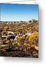 Rugged Mountain Town Greeting Card