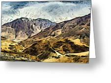 Rugged Mountains Of North India Greeting Card