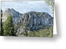 Rugged Valley Walls Greeting Card