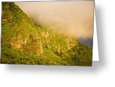 Rugged Volcanic Peaks Of Moorea Greeting Card