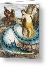 Ruggiero And Angelica Arnold Bcklin Greeting Card