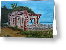 Ruinas Del Faro En Aguadilla Greeting Card by Gloria E Barreto-Rodriguez