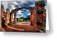 Ruinas En Altagracia Greeting Card