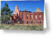 Ruined Church In Rural Utah Greeting Card
