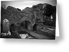 Ruins At Donegal Abbey Donegal Ireland Greeting Card