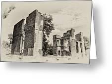 Ruins At Jamestown Greeting Card