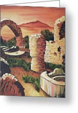 Ruins In Cumae Italy Greeting Card