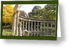Ruins In The Park Greeting Card