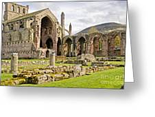 Ruins. Melrose Abbey. Greeting Card