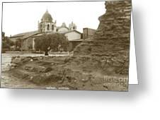 Ruins Of Carmel Mission Circa 1924 Greeting Card