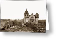 Ruins Of Carmel Mission, Monterey, Cal. Circa 1882 Greeting Card