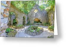 Ruins Of Chapel Sintra Greeting Card