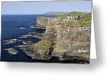 Ruins Of Dunluce Castle On The Sea Cliffs Of Northern Ireland Greeting Card