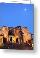 Ruins Of San Nicolas De Bari Hospital Greeting Card