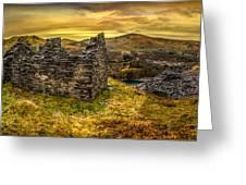 Ruins Of Snowdonia Panorama Greeting Card