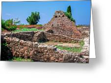 Ruins Of The Ancient City Of Side Greeting Card