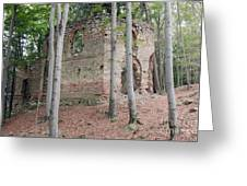 Ruins Of The Baroque Chapel Of St. Mary Magdalene Greeting Card