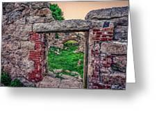 Ruins Of White's Factory - Doorways Greeting Card