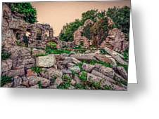 Ruins Of White's Factory - Fallen Blocks Greeting Card