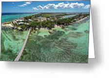 Rum Point Beach Panoramic Greeting Card