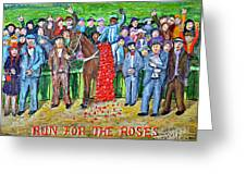 Run For The Roses Greeting Card