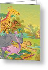Run For The Zoo Greeting Card