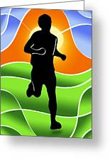 Run Greeting Card by Stephen Younts