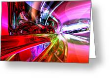 Runaway Color Abstract Greeting Card