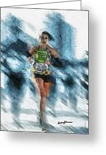 Runner Greeting Card by Anthony Caruso