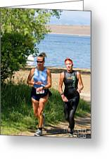 Runners At The 24 Hours Of Triathlon Greeting Card