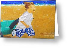 Running Against The Wind Greeting Card