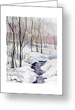Running Cold Greeting Card