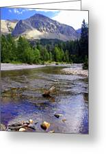 Running Eagle Creek Glacier National Park Greeting Card