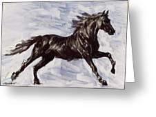Running Horse Greeting Card