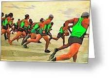 Running Start Greeting Card